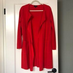 JCrew Collarless Sweater Blazer, Red, Small